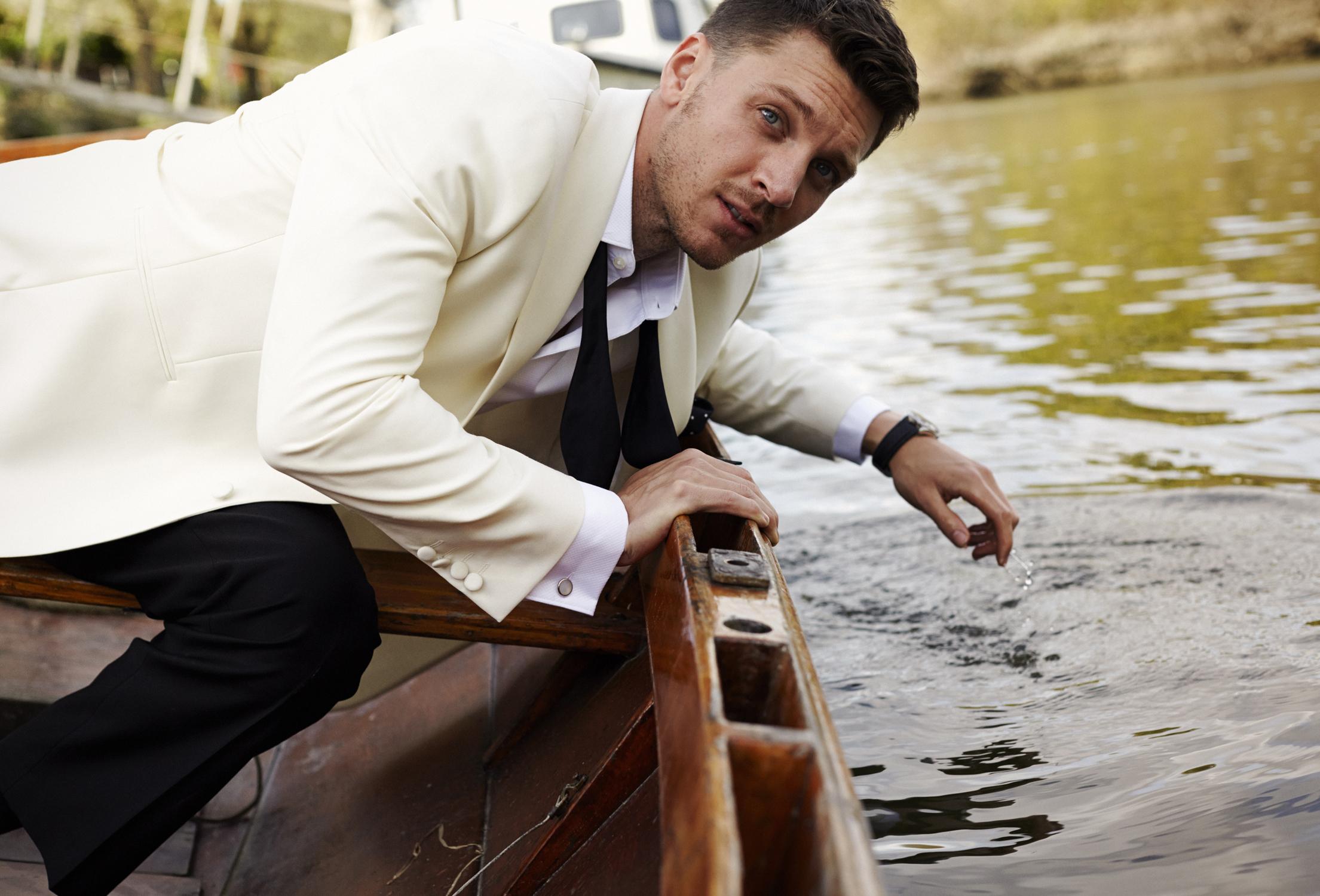 Sam Wilkinson in a Boat