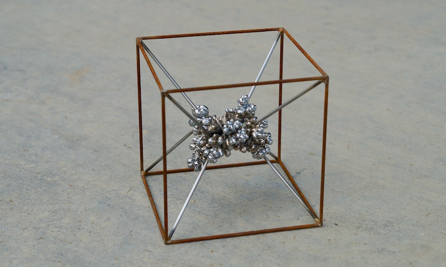 Philip_Rae-Scott_Electrospawn_4_Chrome_nugget_silver _soldered_mild_steel_stainless_steel_15cmcube)_2017