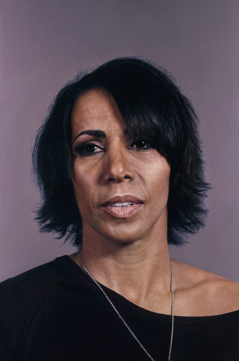 6 Craig Wylie, Dame Kelly Holmes for the National Portrait Gallery, London, 2012 173.5x115cm Oil on linen