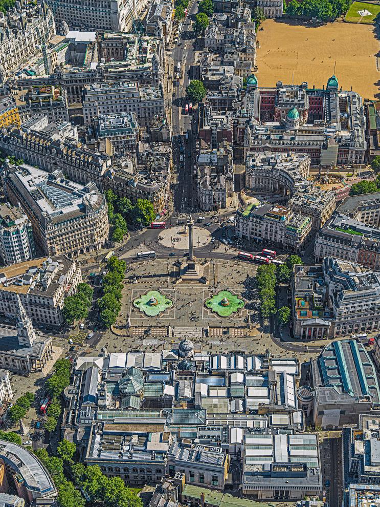 London Trafalger Square Photograph Bernhard Lang