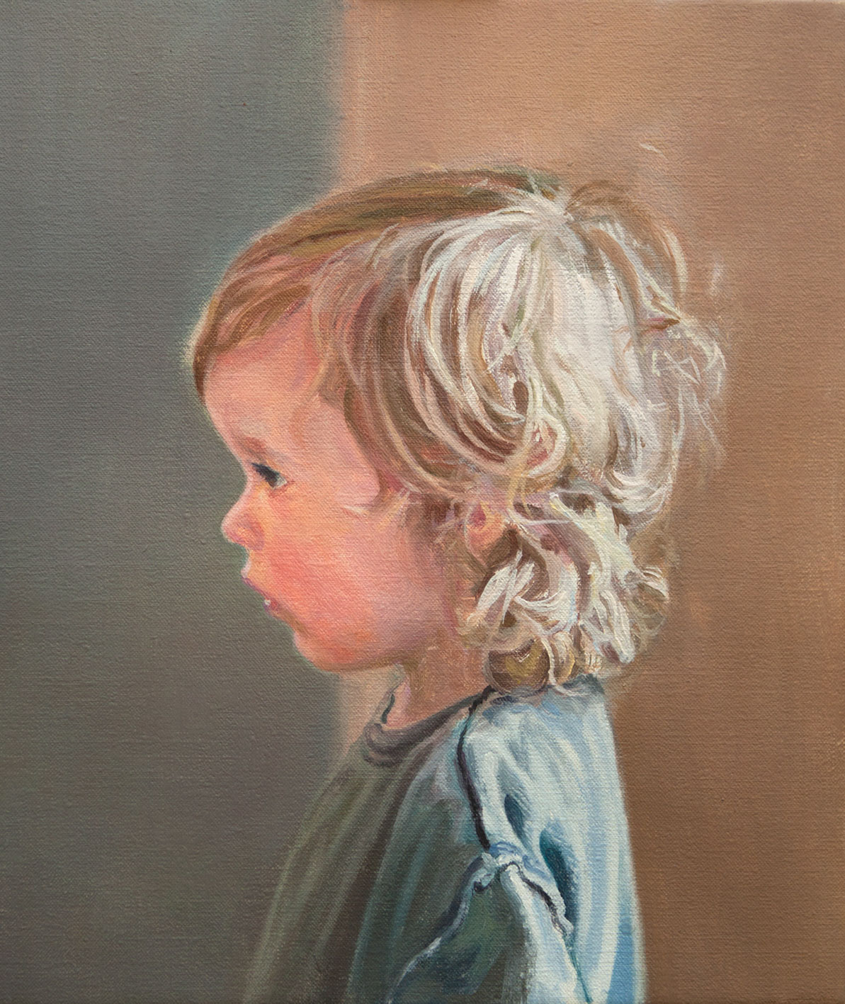 a Craig Wylie, _Portrait sketch of the artist_s son, Orson_, 36x31cm, Oil on canvas, 2016