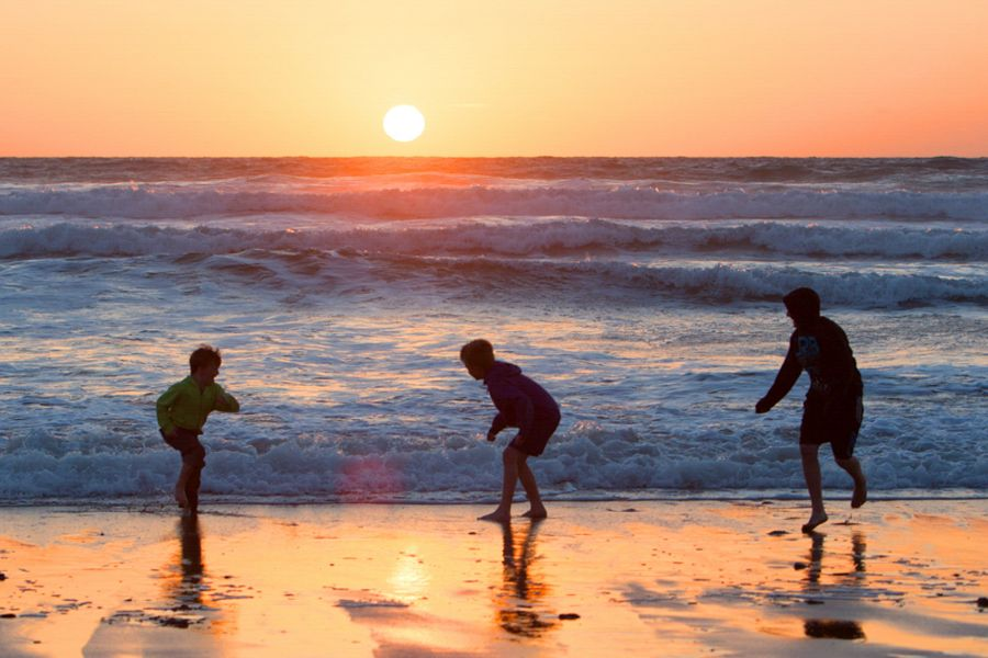 Family Beach Shot